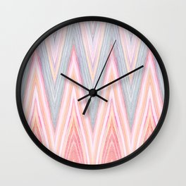 Agate Chevron Wall Clock