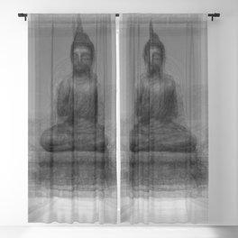 Buddha Overlay Blackout Curtain