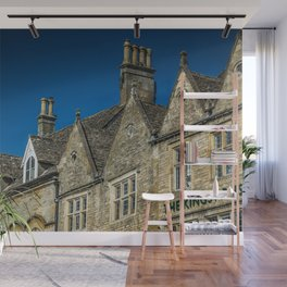 Antique Chimneys Cotswolds Market Square Skyline England Gloucestershire Wall Mural