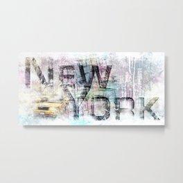 Urban Art NEW YORK CITY Metal Print