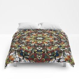 Boho Geometric Mandela Pattern 1 Comforters