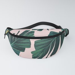 Tropical Blush Banana Leaves Dream #1 #decor #art #society6 Fanny Pack