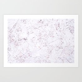 White Chipboard Art Print