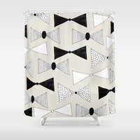 bow Shower Curtains featuring bow pattern by Georgiana Paraschiv