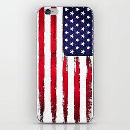 Vintage American flag iPhone Skin