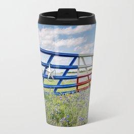 Lone Star Gate With Bluebonnets - Ennis, TX Travel Mug