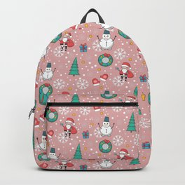 New Year Christmas winter holidays cute Backpack