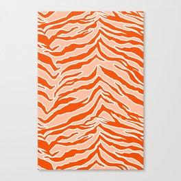 Tiger Print - Orange Canvas Print