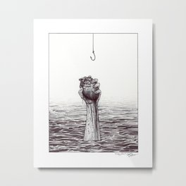 Proverbs 23:26 - Ballpoint Pen Illustration Metal Print