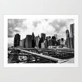 A New York minute Art Print