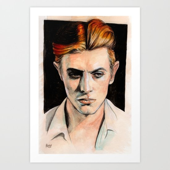 Thin White Duke Art Print