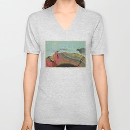 Vintage Geology and Meteorology Diagram (1893) Unisex V-Neck