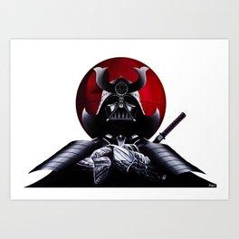 Vader Samurai Art Print
