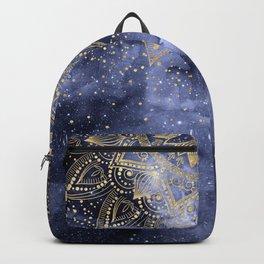 whimsical gold mandala confetti design Backpack