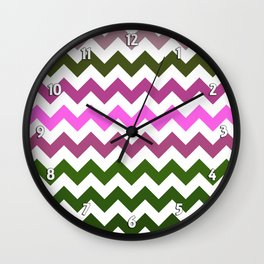 Pink Roses in Anzures 1 Chevron 1 Wall Clock