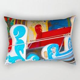 Fast-paced sledging Rectangular Pillow