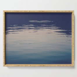 Ombre Lake Ripples Serving Tray