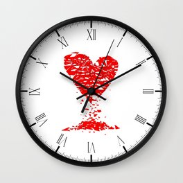 Shattered Lovers Heart Wall Clock