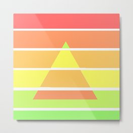 Rainbow Gradient Triangle Metal Print