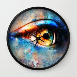 Through the Time Travelers Eye Wall Clock