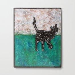 Feral Tipped Ear Cat  Metal Print