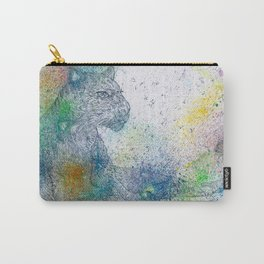 PANTHER watercolor and pencil portrait  Carry-All Pouch