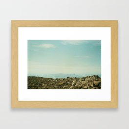 What can you see? Framed Art Print