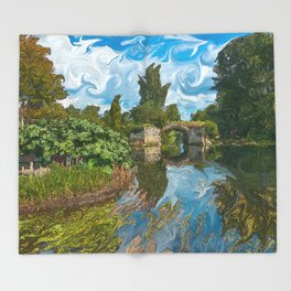 Warwick Castle Bridge Throw Blanket