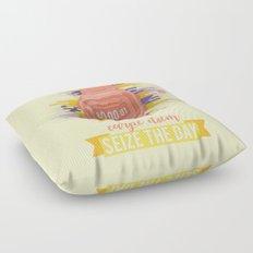 Carpe Diem - Seize the Day [orange] Floor Pillow