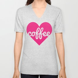 Coffee Heart Unisex V-Neck