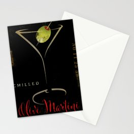 Olive Martini Stationery Cards