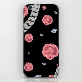 """Rose """" Pink  Black """" iPhone Skin"""