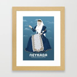 Lefkada, Traditional Costume & Embroidery (GR) Framed Art Print