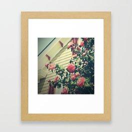 Granny's Garden Framed Art Print