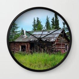 Alaskan Frontier Cabin Wall Clock