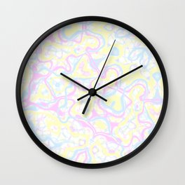 Pastel Kaleidoscope 1 Wall Clock