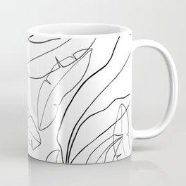 Black and White Banana Leaves Coffee Mug