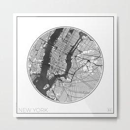 New York Map Universe Metal Print
