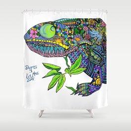 Karma Chameleon Shower Curtain