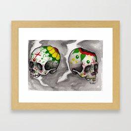 Calacas Otra Ves Framed Art Print