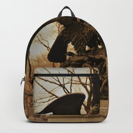 Eagles and Prey Sculpture in NYC Central Park Backpack