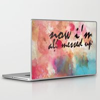 tegan and sara Laptop & iPad Skins featuring Tegan and Sara: Now I'm All Messed Up by Tia Hank