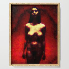 """NUDE """"walk in red"""" Serving Tray"""