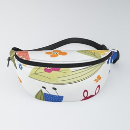 Rabbits pattern 1 Fanny Pack