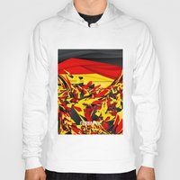 germany Hoodies featuring Germany by Danny Ivan