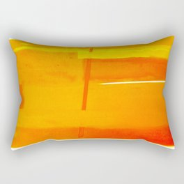 Gold Monochromatic with Red Tones Rectangular Pillow