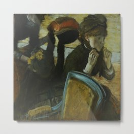 At the Milliner's Metal Print