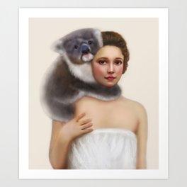 Miss Koala Art Print