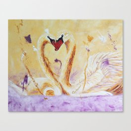 A Little Kiss | Un petit bec Canvas Print