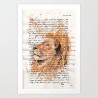 073 - Lion Art Print